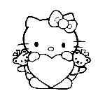 Coeur Hello Kitty