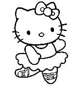 Hello Kitty danseuse