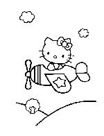 Hello kitty en avion